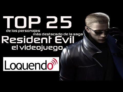 Top 25 de los personajes más destacados de la saga Resident Evil el videojuego HD