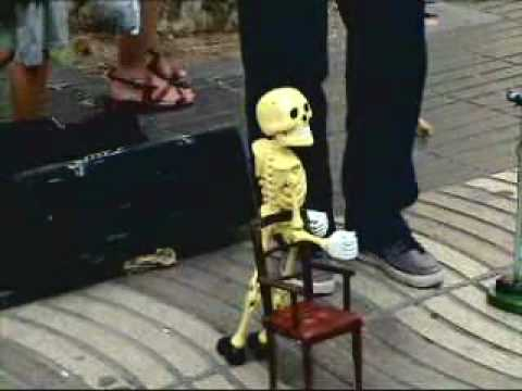 dancing skeleton marionette youtube