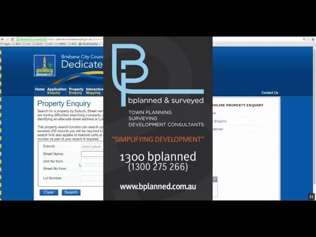 How to do a Property Search in Brisbane or other Council Websites in Australia - bplanned & surveyed