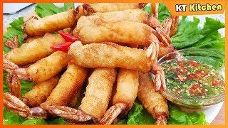 CHẢ GIÒ TÔM Giòn Rụm Giòn Lâu Không Cần Nước Cốt Dừa Hay Bia -Tôm Hỏa Tiễn - Crispy Shrimp Rolls