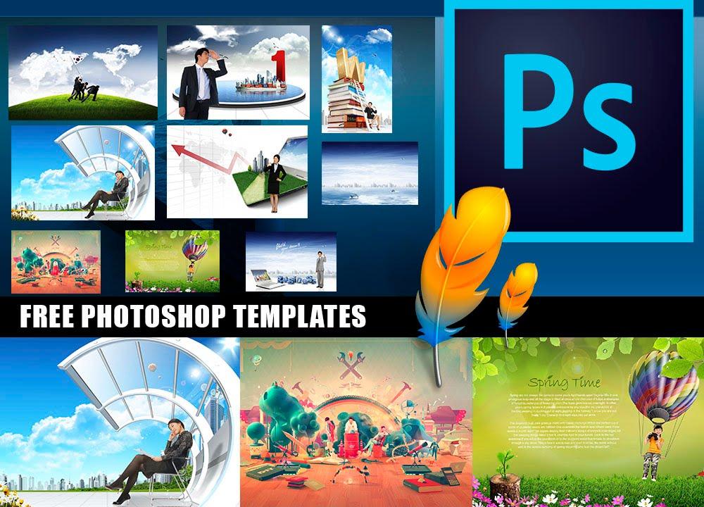Top 10 PHOTOSHOP Template | Increíbles plantillas para Photoshop ...