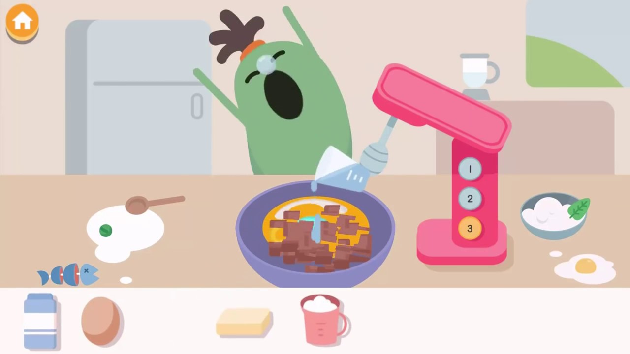 I bambini imparano strumenti da cucina e creare divertenti pasti ...