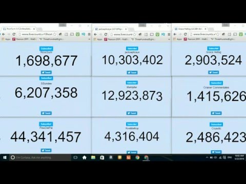 Live Subscriber Count Of Popular YouTubers