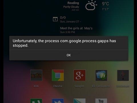 Resovler Errores que fuerza el cierre o el proceso se detiene inesperadamente Play Store