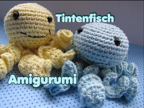 Tintenfisch häkeln – Amigurumi –  Anleitung – DIY