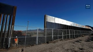 Trump's budget director unveils photos of what the border wall may look like