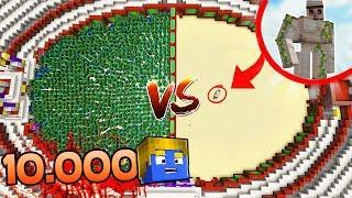 10.000 ZUMBIS VS 1 GOLEM   ARENA MINECRAFT