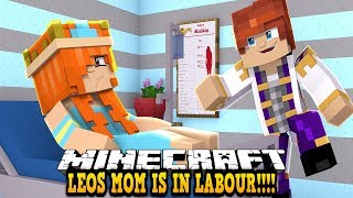 LEOS MOM IS IN LABOUR WITH THE TWINS? MY BROTHER AND SISTER ARE BEING BORN!! Minecraft Roleplay |