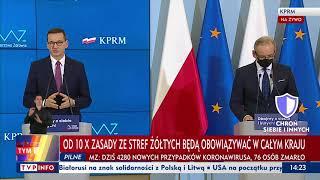 Konferencja prasowa premiera Mateusza Morawieckiego oraz ministra zdrowia Adama Niedzielskiego