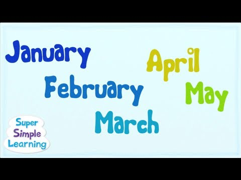 Thumbnail: The Months Chant | Super Simple Songs