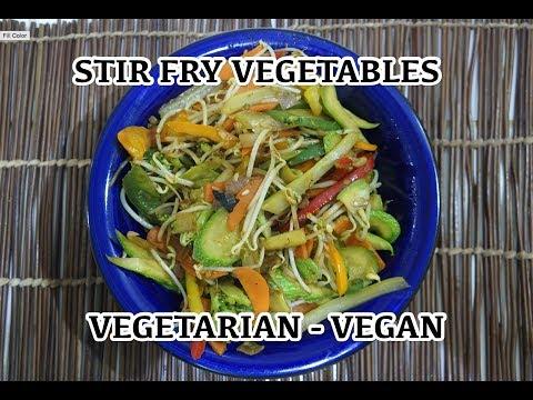 Vegetable Stir Fry - Easy Vegetarian Vegan Recipe