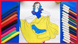 Đồ chơi trẻ em TÔ MÀU CÔNG CHÚA BẠCH TUYẾT xinh đẹp - Color Painting (Chim Xinh)