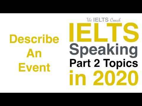 IELTS Speaking Part 2 Topics 2020 (Describe An Event)