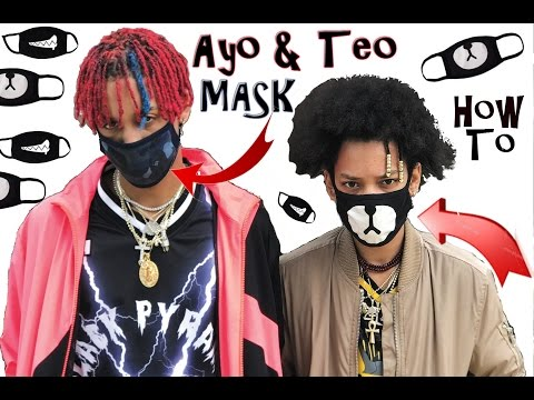 HOW TO MAKE AYO & TEO MASKS @Shmateo @Ogleloo