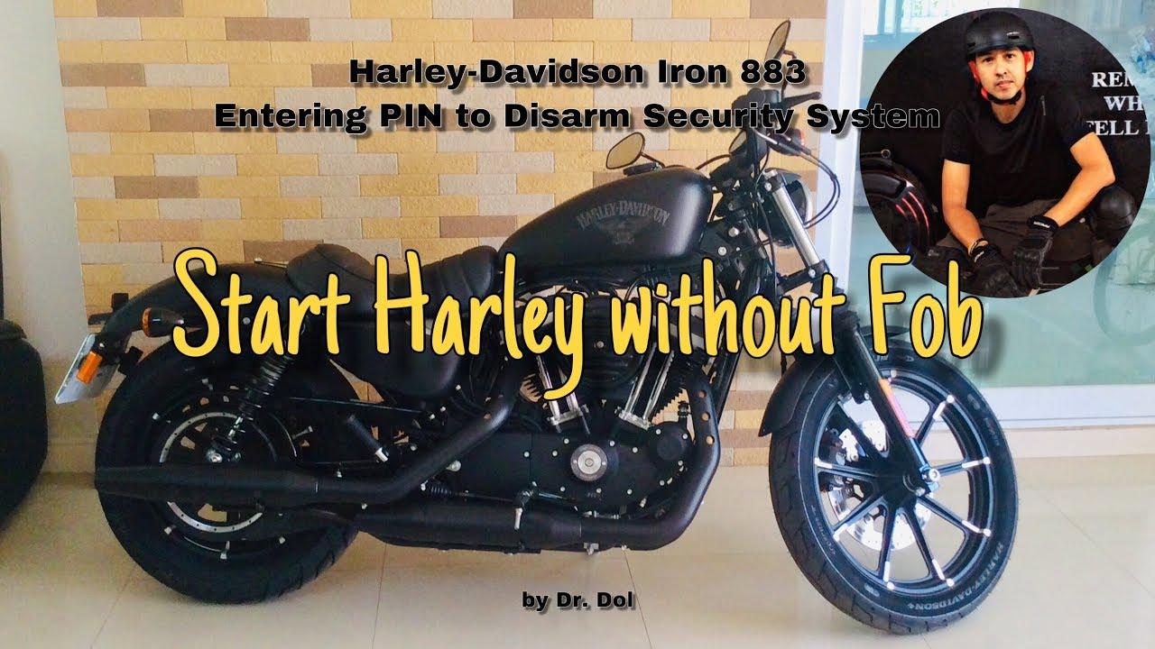 Entering PIN to Start Harley-Davidson Iron 883 without Key ...