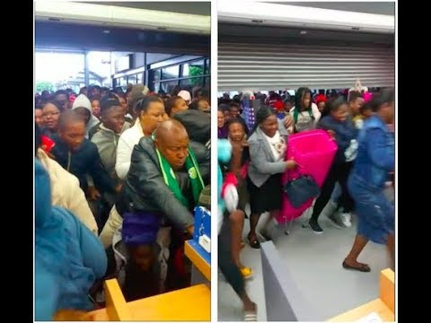 Chaos as Crowds Barge Into Stores for Black Friday Deals | South Africa