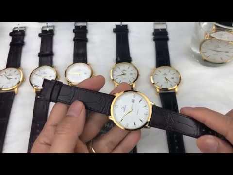 Đồng hồ nam thời trang dây da máy mỏng OL 1 lịch   Tổng quát các nội dung liên quan đồng hồ nam thời trang dây da có lịch omega chính xác