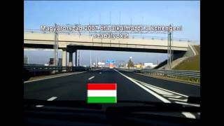 Crossing the border into Austria from Hungary - HD