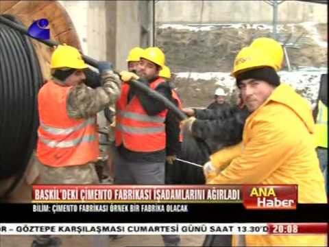 Baskil'de ki Çimento Fabrikası İş Adamlarını Ağırladı - Kanal E