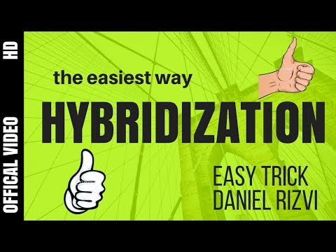 How To Find Hybridization | Easiest Method | Trick to Find Hybridization | XI-XII | IIT JEE (Hindi)