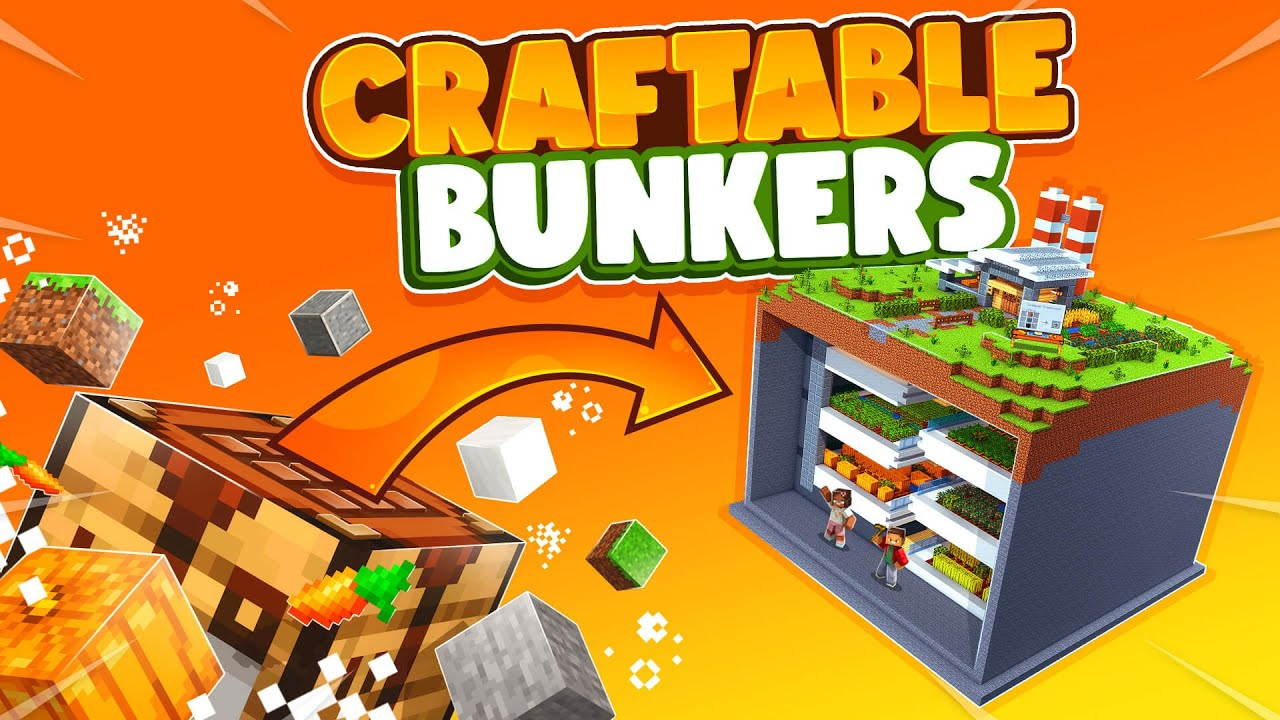 🛠️🚪 Craftable: Bunkers - Minecraft Marketplace Map - Craft a bunker for your survival! 😯