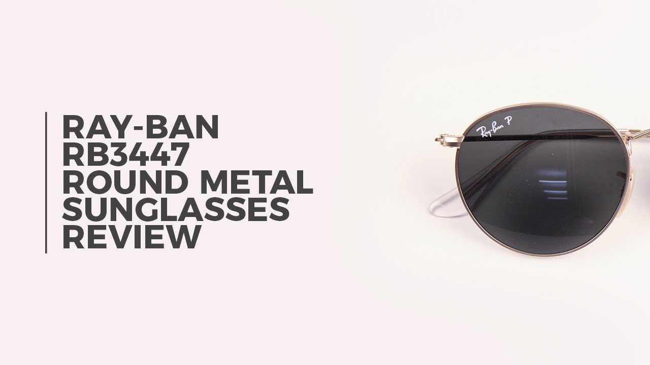 22acbb71d6 Ray Ban RB3447 Round Metal Polarized Sunglasses Review ...
