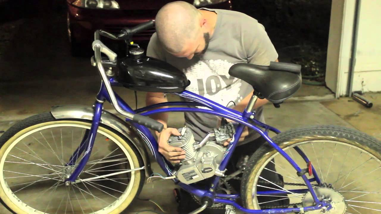how to put an engine kit on a beach cruiser part 3 carb. Black Bedroom Furniture Sets. Home Design Ideas