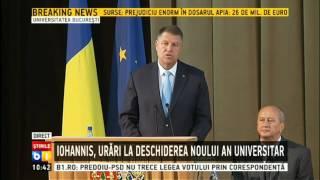 Klaus Iohannis, urari la deschiderea anului universitar