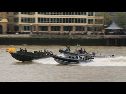 Royal Marines And Royal Netherlands Marines Take Part In High Octane Demonstration