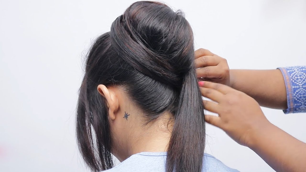 Beautiful Hairstyle For Wedding/Party/Function | Hairstyle girl | Easy Juda hairstyle 2019 for ...