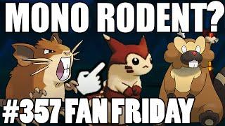 MONO RODENT TRIPLES! Pokemon Omega Ruby Alpha Sapphire WiFi Battle! Fan Fridays #357 AF Blaze