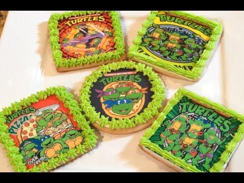 Teenage Mutant Ninja Turtle Edible Image Cookies