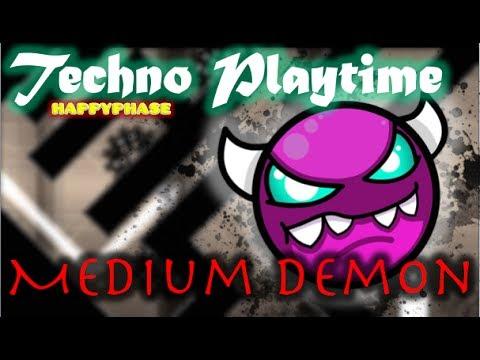 Geometry Dash - My New level! Techno Playtime - Unverified (Medium Demon)