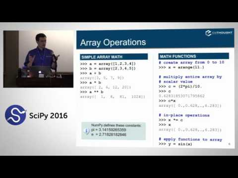 NumPy Beginner | SciPy 2016 Tutorial | Alexandre Chabot LeCl