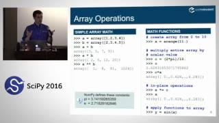 NumPy Beginner | SciPy 2016 Tutorial | Alexandre Chabot LeClerc
