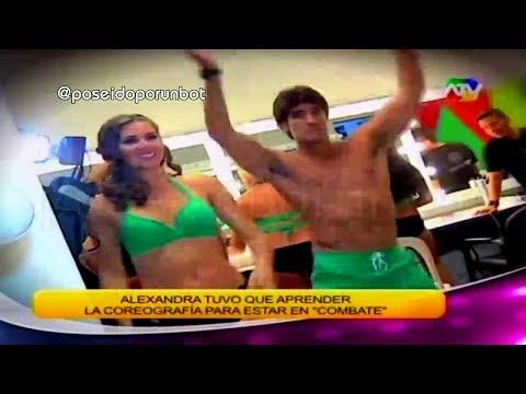 COMBATE: Israel Enseña A Bailar La Coreografia A Alexandra 01/03/14