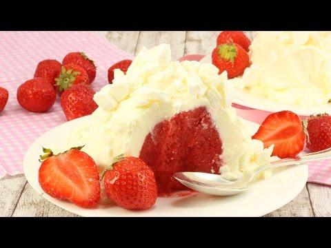 Frozen Yogurt Erdbeer Bombe I FroYo Eis Bombe I Erdbeer Schneeball