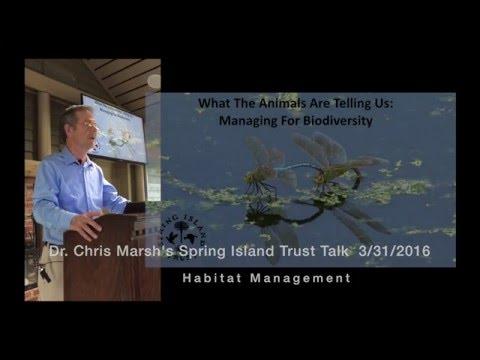 Chris Marsh's Spring Island Trust Talk on Habitat Management