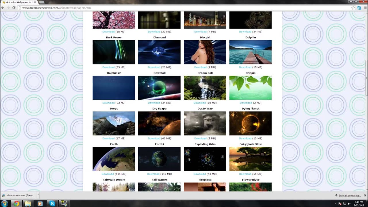 How Get Live Wallpapers For Windows 7 Youtube
