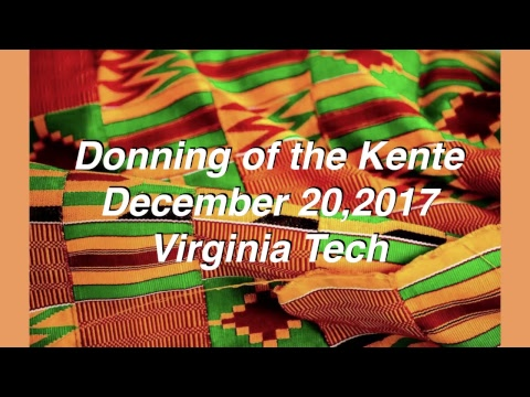 Donning of the Kente Fall 2017