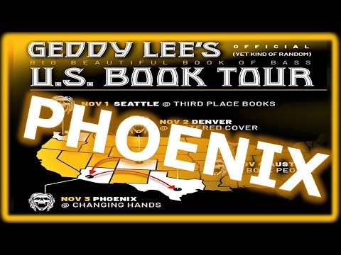 Geddy Lee - Big Beautiful Book of Bass Autograph Signing - Phoenix from YouTube · Duration:  29 minutes 16 seconds