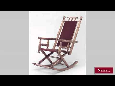 Antique American Victorian faux bamboo maple rocking chair - Antique American Victorian Faux Bamboo Maple Rocking Chair - YouTube