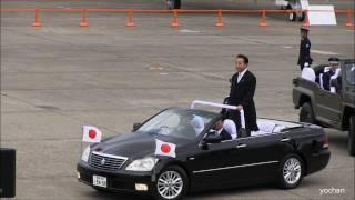 "Prime Minister of Japan""Yoshihiko NODA"" 航空観閲式・本番 野田総理大臣の巡閲"
