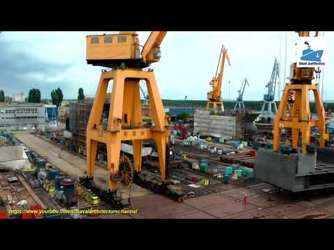 Inside shipyard - The process of building the ship.