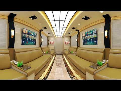 Moda Car Sitting Area Panoramic Ceiling For Vip bus