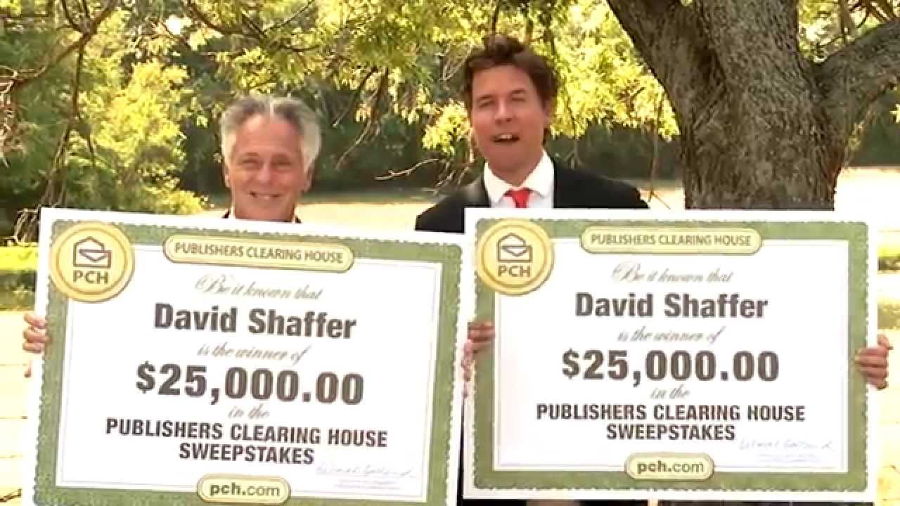 Publishers Clearing House Winners: David Shaffer From Red Oax, Texas Wins  $25,000