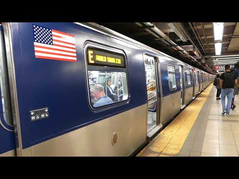 IND 8th Ave Line: R160A-2 E Train with a new MTA wrapped look at Canal St-Holland Tunnel