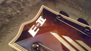 ESP ECLIPSE E-II QUILT TOP EMG TONE PROS LES PAUL STYLE GUITAR CLOSE UP REVIEW