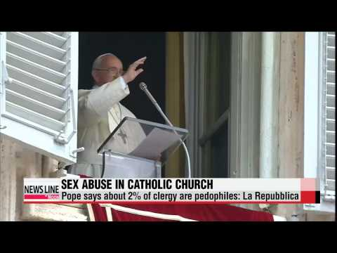 Pope says about 2% of clergy are pedophiles: newspaper