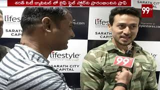 Bollywood Hero Halchal in Hyderabad   Tiger shroff Special Face to Face   #Lifestyle    99 TV Telugu